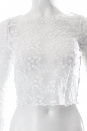 Topshop Cropped Shirt weiß
