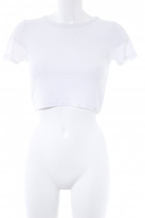Topshop Cropped Shirt weiß Casual-Look
