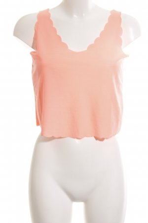 Topshop Cropped Top hellorange Casual-Look