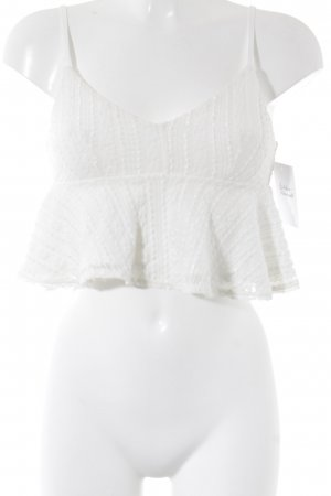 Topshop Cropped Top weiß Street-Fashion-Look