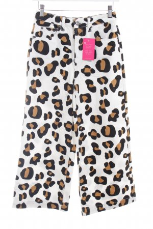 Topshop Falda pantalón de pernera ancha estampado de leopardo estampado animal