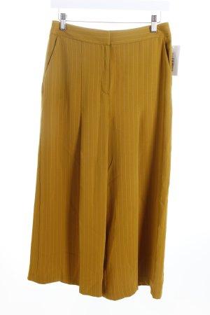 Topshop Culottes limettengelb-weiß Nadelstreifen Business-Look