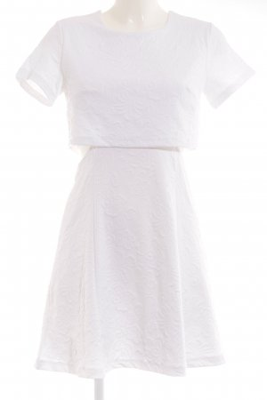 Topshop Vestido cut out blanco estampado floral look casual