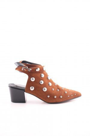 Topshop Cut-Out-Stiefeletten cognac Casual-Look