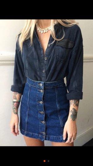 TOPSHOP dark wash jean skirt