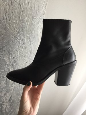 Topshop Booties black leather