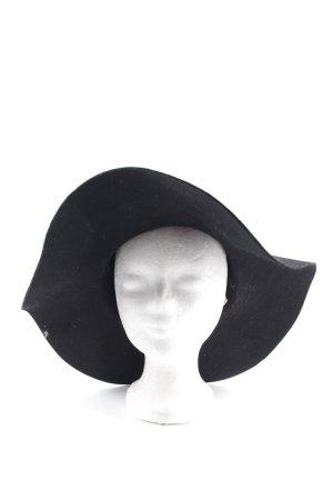 Topshop Chapeau en feutre noir-doré élégant