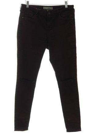 Topshop Five-Pocket-Hose purpur-schwarz meliert extravaganter Stil