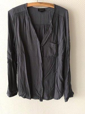 Topshop Blouse met lange mouwen donkergrijs-grijs
