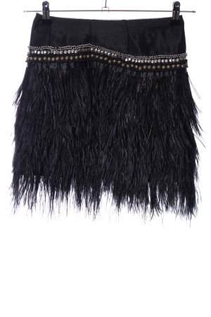 Topshop Fringed Skirt black party style