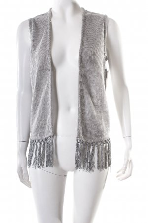 Topshop Fringed Vest silver-colored Boho look