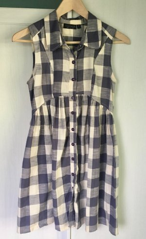Topshop Gingham Dress Sommer Kleid blau creme Gr. 38