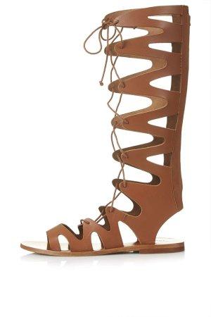 Topshop Gladiator Römer Sandalen Flats Fashion Blogger Trend 70s 39 Leder