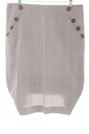 Topshop Flared Skirt light grey-pink check pattern business style