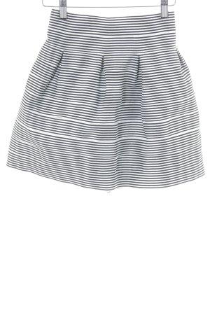 Topshop Jupe évasée blanc cassé-noir rayures horizontales Paris-Look