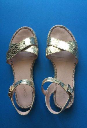 Topshop Golden Espandrilles Sandals