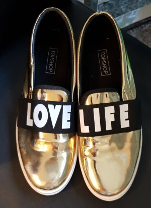 Topshop Slip-on Sneakers gold-colored
