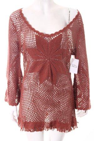 Topshop Crochet Shirt dusky pink beach look