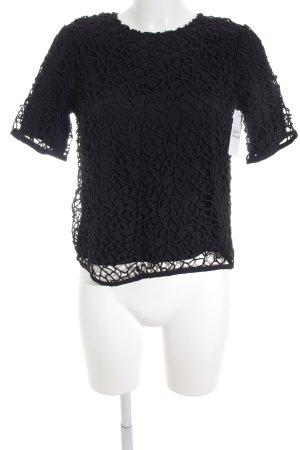 Topshop Top en maille crochet noir style classique