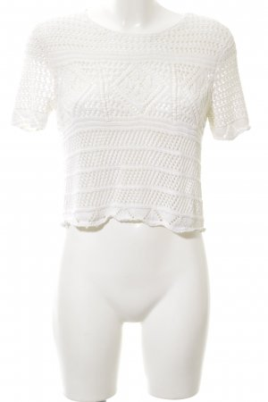 Topshop Camisa de ganchillo blanco look casual
