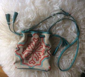 Topshop Handtasche # Beutel # Echt Leder # Ethno Print # ungetragen