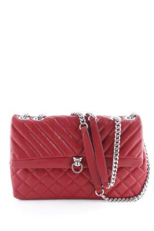 Topshop Handtasche rot Steppmuster klassischer Stil