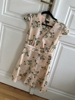 Topshop hellrosa Kleid mit Blumenprint
