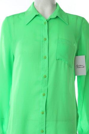 Topshop Hemd-Bluse neongrün