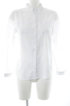 Topshop Hemd-Bluse weiß Casual-Look