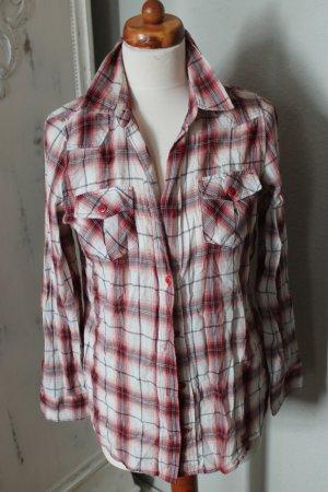 Topshop Camisa de leñador carmín Algodón