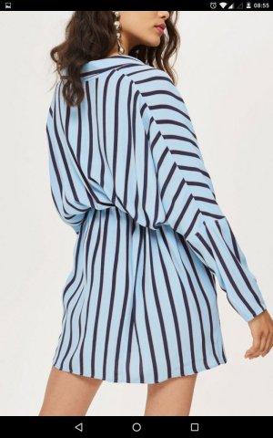 Topshop Robe chemise bleu fluo