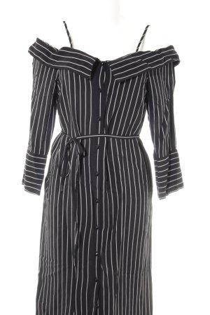Topshop Hemdblusenkleid schwarz-weiß Streifenmuster Casual-Look