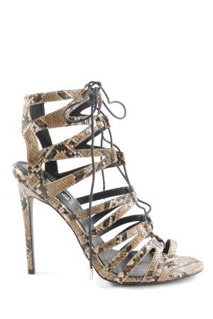 Topshop High Heel Sandaletten braun Animalmuster extravaganter Stil
