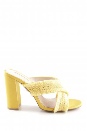Topshop High Heel Sandaletten dunkelgelb extravaganter Stil