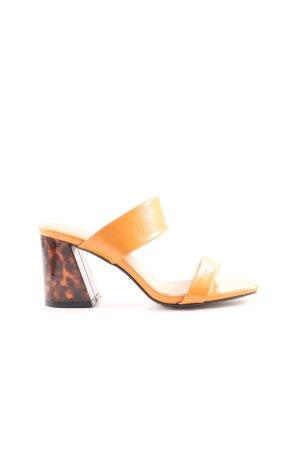 Topshop High Heel Sandaletten goldorange-braun Elegant