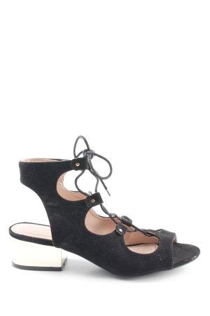 Topshop High Heel Sandaletten schwarz-goldfarben