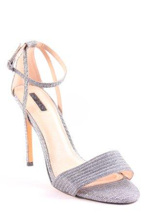 Topshop High Heel Sandaletten silberfarben Elegant