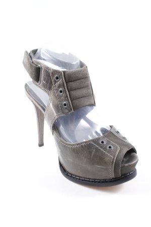 Topshop High Heels grau-dunkelgrau extravaganter Stil