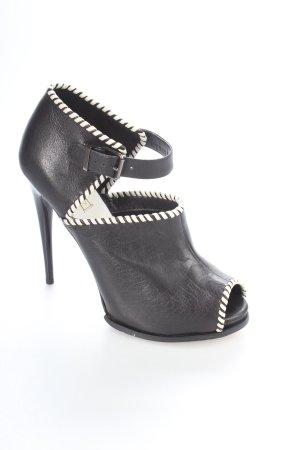 Topshop High Heels schwarz-weiß extravaganter Stil