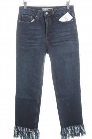 Topshop High Waist Jeans blau Street-Fashion-Look