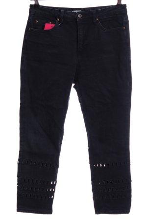 Topshop Jeans a vita alta nero stile casual