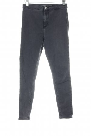 Topshop High Waist Jeans grey-silver-colored simple style