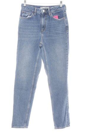 Topshop High Waist Jeans graublau-hellbeige Casual-Look