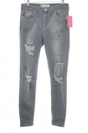 "Topshop High Waist Jeans ""Jamie"" light grey"