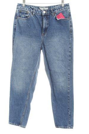 Topshop High Waist Jeans kornblumenblau Casual-Look