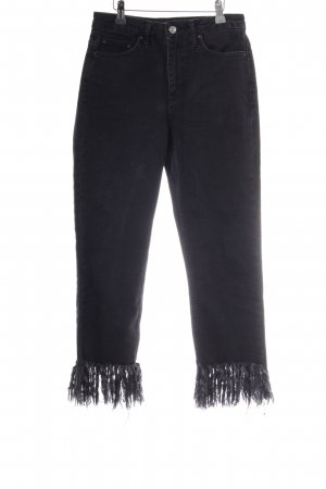 Topshop High Waist Jeans schwarz Boho-Look