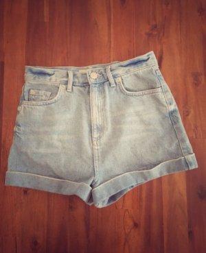 Topshop High Waist Jeans Shorts hellblau XS 34