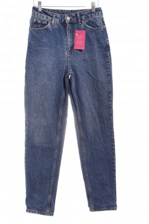 Topshop High Waist Jeans stahlblau Jeans-Optik