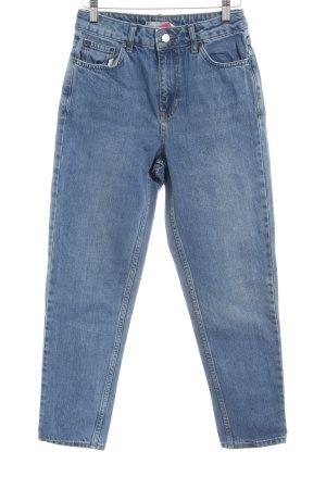 Topshop High Waist Jeans stahlblau schlichter Stil