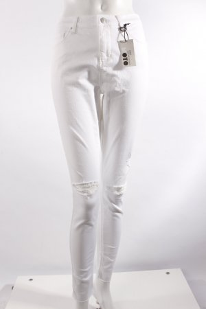 Topshop High Waist-Jeans weiß